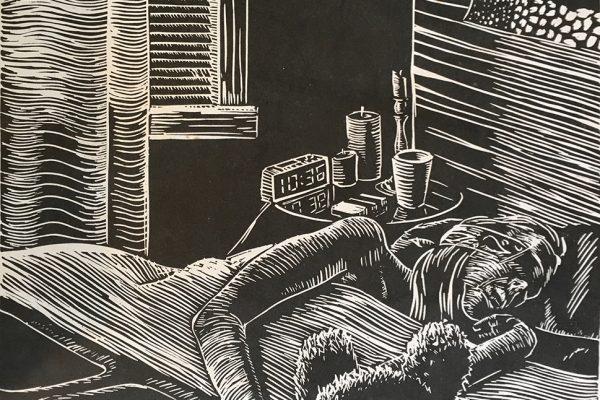 linocut-sleeping
