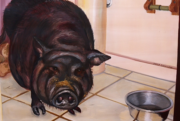 Pig in a Bathroom – 1998